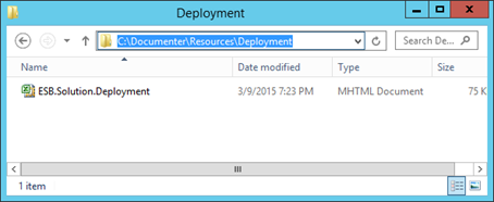 Settings File for Deployments included in documentation